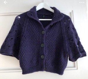 Benetton Gilet tricoté violet foncé