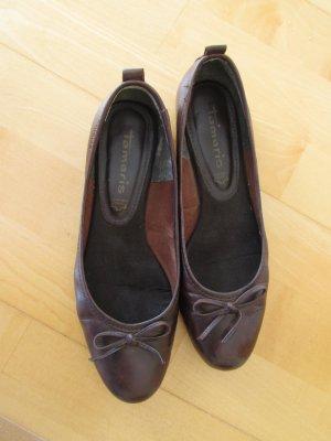 Tamaris Ballerines brun foncé cuir