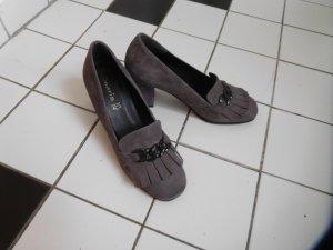 Tamaris Slippers dark grey-grey brown leather