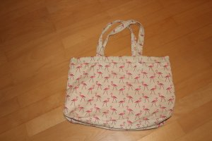 H&M Divided Pouch Bag oatmeal-pink