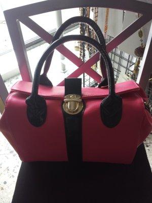Schöne Tasche noch neu in pink schwarz