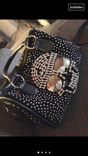 Handtas zwart-zilver