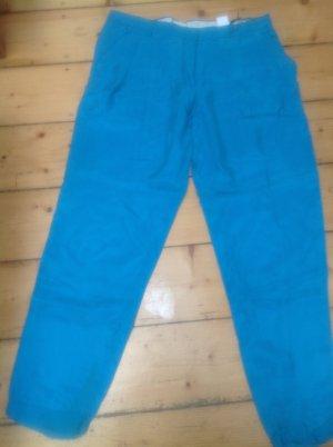 Pantalon à pinces bleu acier tissu mixte