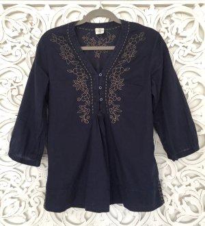 schöne Tunika Bluse von H&M mit Verzierung * dunkelblau * Gr. 36 S