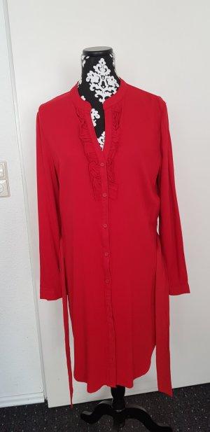 JustFab Tunic Dress red-brick red