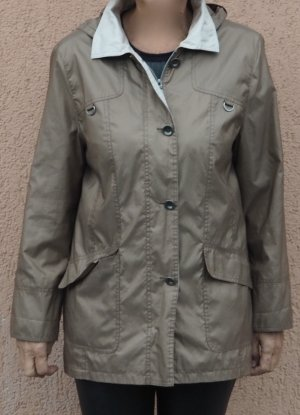 Peter Hahn Outdoor Jacket grey brown-oatmeal polyester