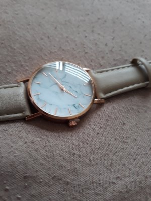 & other stories Watch With Leather Strap cream-oatmeal