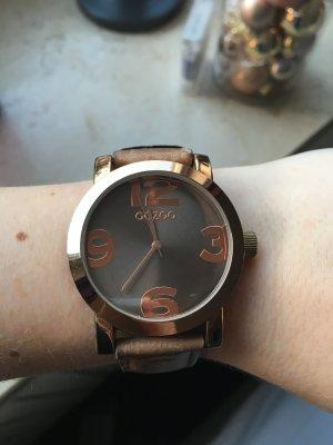 Schöne Uhr in Rosegold/braun