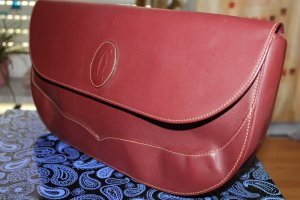 Cartier Clutch bordeaux Leer