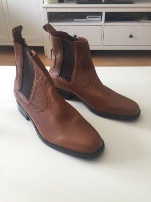 Chelsea laarzen zwart-cognac