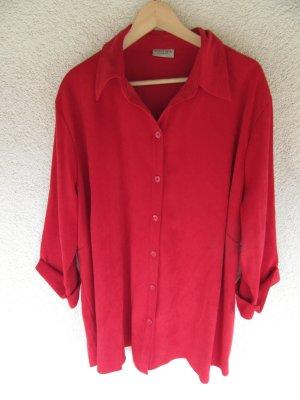 schöne Vintage Bluse rot Sommer Retro oversize