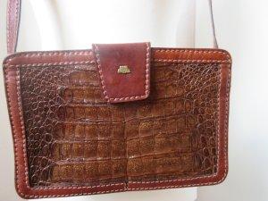 Schöne Vintage Tasche, Umhängetasche in Kroko-Optik
