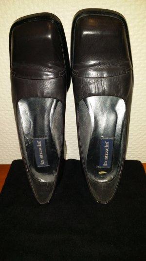 Loafers grijs Leer