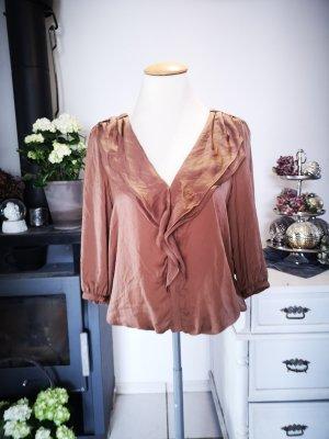 Zara Basic Ruche blouse veelkleurig