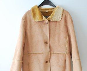 Fake Fur Jacket multicolored imitation leather