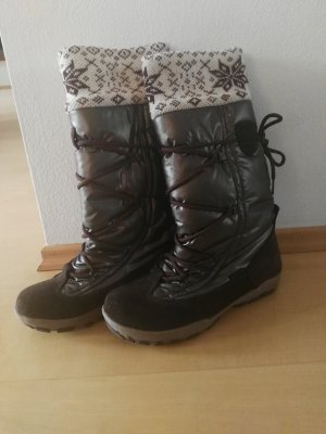 Boots brown red-black brown