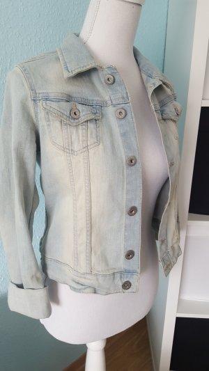schöne washed out jeansjacke