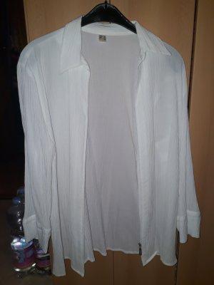 Veste chemisier blanc-argenté