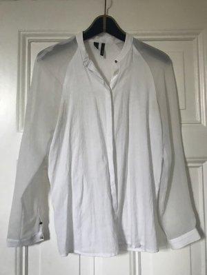 Schöne weiße Business Bluse von MANGO - Größe S