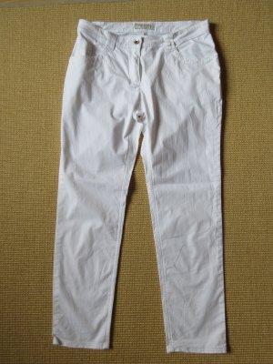 Five-Pocket Trousers white cotton