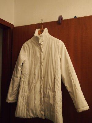 Veste longue blanc polyester