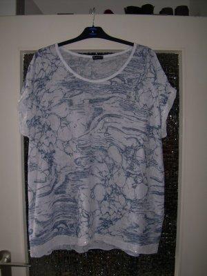 schöne weiße leichte Strick-Tunika Shirt Gr. XL 42/44 Pailletten