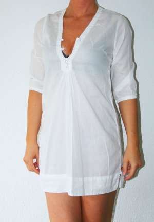 Schöne weiße Long-Bluse Tunika Gr.36