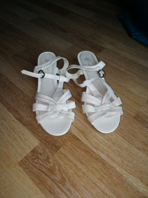 Wedge Sandals white leather