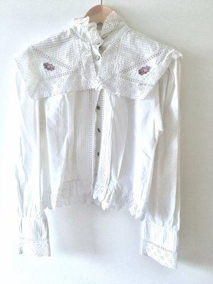 beclaimed vintage Blouse à manches longues blanc
