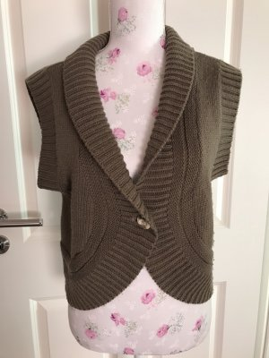 Cheer Gebreid vest taupe