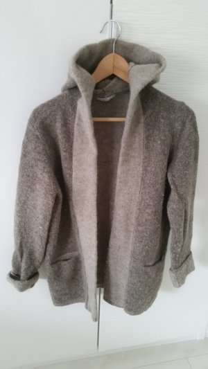 Knitted Cardigan light brown-brown