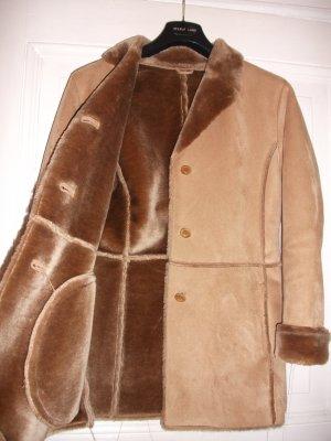 Schöne Wildlederjacke mit Fell (Fake Fur) Vintage / Hipster