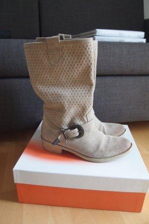Schöne Wildlederstiefel * Boots * mit Schnalle