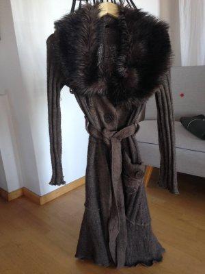 Schöne Wolljacke, Mantel, grau-braun, Gr. S/M