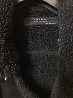 Zara Fleece jack zwart