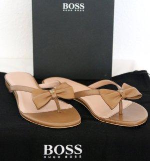 Hugo Boss Entre-doigt marron clair cuir