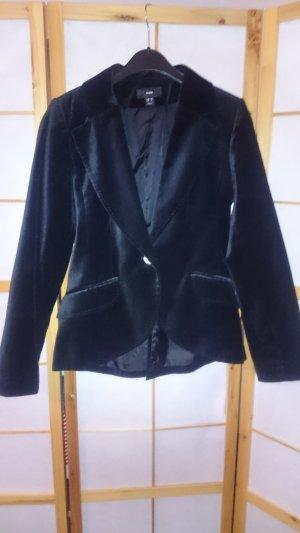 H&M Blazer unisexe noir fibre synthétique