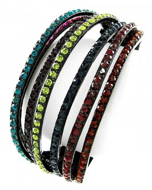 Bangle multicolored glas