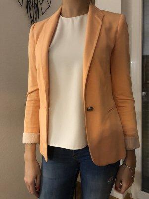 Zara Jersey Blazer salmón-beige claro