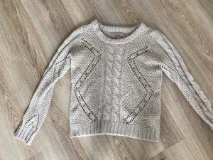 Bershka Knitted Sweater cream