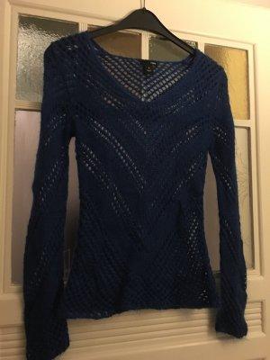Schöner blauer Lochstrick Pulli von H&M