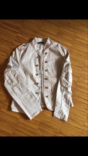 Jersey blazer stoffig roze-lichtroze