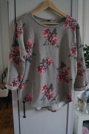 H&M Sweat Shirt light grey-pink