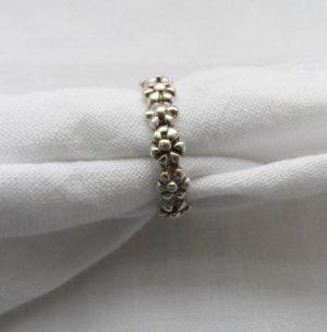 schöner Blumen Ring aus 925 Silber Gr. 18 (56)
