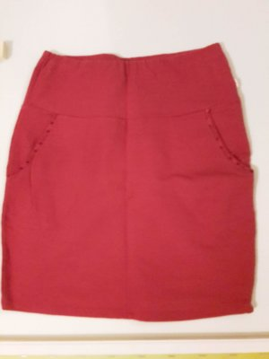 Blutsgeschwister Tulip Skirt neon red cotton