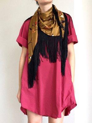 Zara Écharpe à franges multicolore polyester