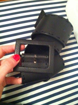 Hip Belt black-dark blue leather