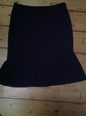 Armani Collezioni Godet Skirt dark blue mixture fibre