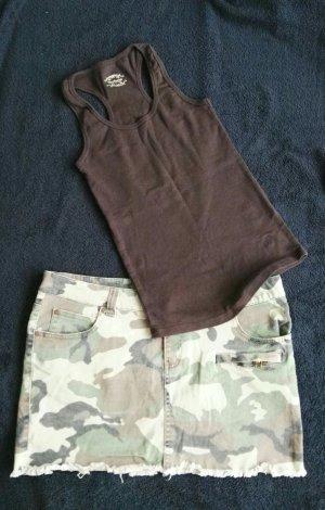 schöner Camouflage Minirock Gr.L