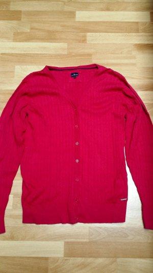 schöner Cardigan aus Baumwolle/ pink-magenta/ Gr. 42/ Via Cortera